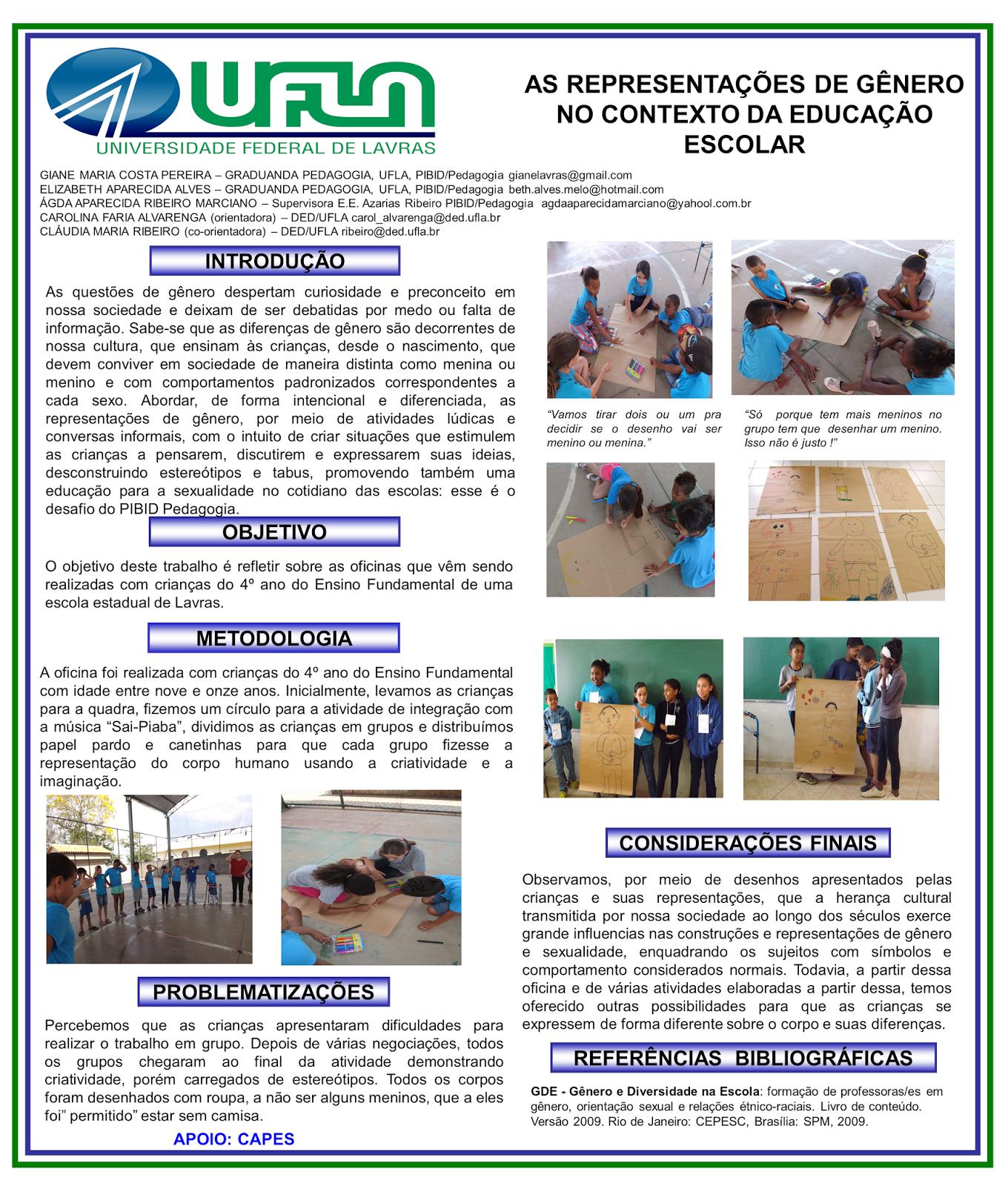 AS REPRESENTAÇÕES DE GÊNERO NO CONTEXTO DA EDUCAÇÃO ESCOLAR