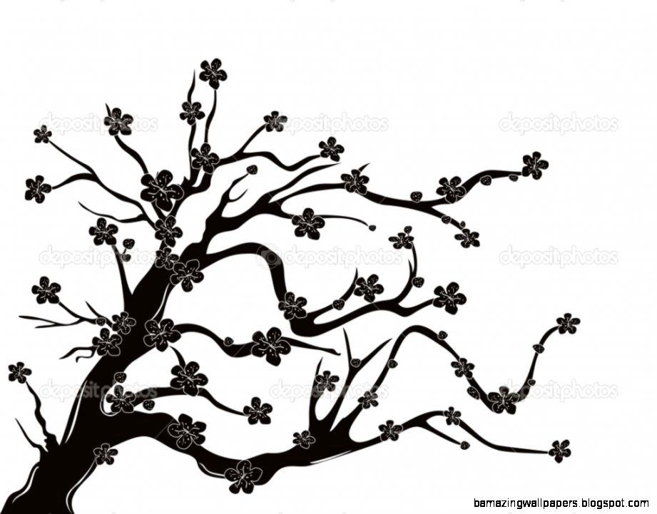 View Original Size Cherry Blossom Tree Silhouette