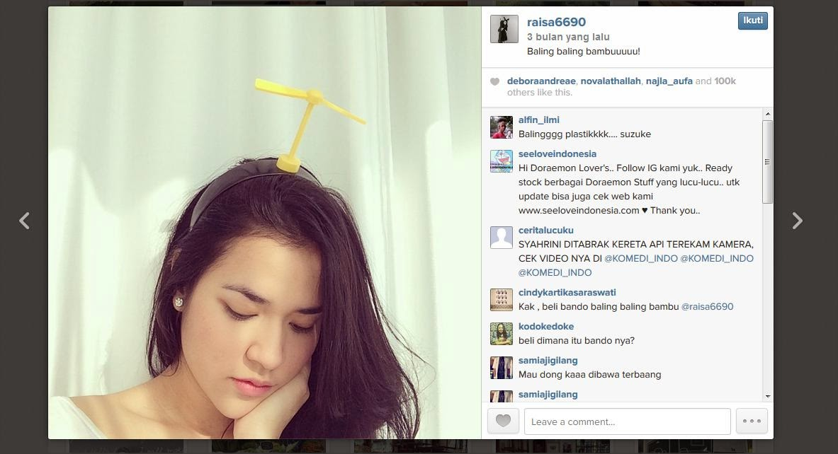 Instagram Raisa