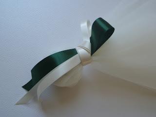 λιτή και κομψή μπομπονιέρα γάμου με σοκολατένια κουφέτα