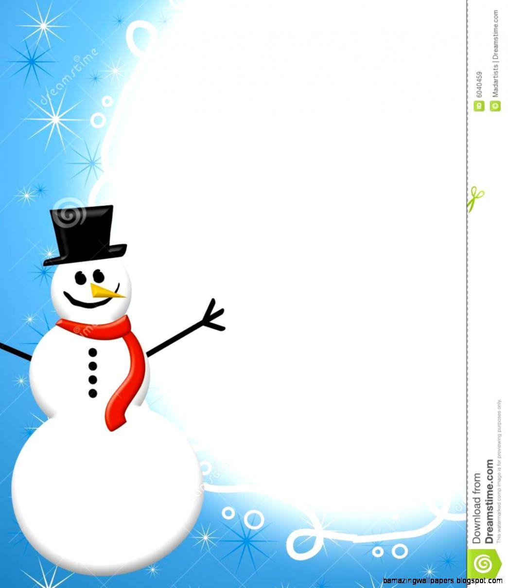 Snowman Border Clipart   Clipart Kid
