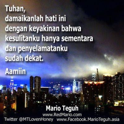 Mario Teguh : Tuhan,Damaikanlah Hati Ini