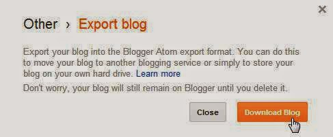 download Blogger export file