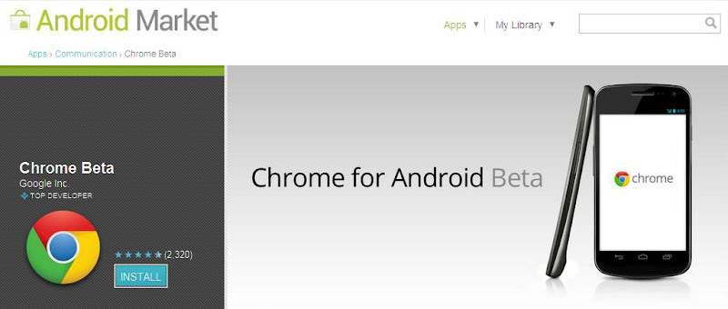 Android Market - Chrome Beta