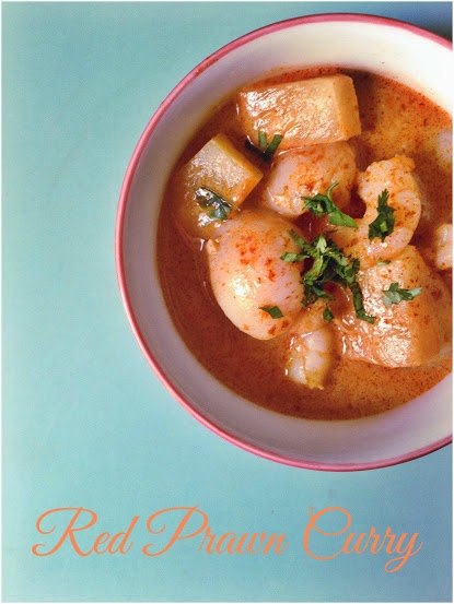 A recipe for a fruity red curry with prawn, lychee and pineapple