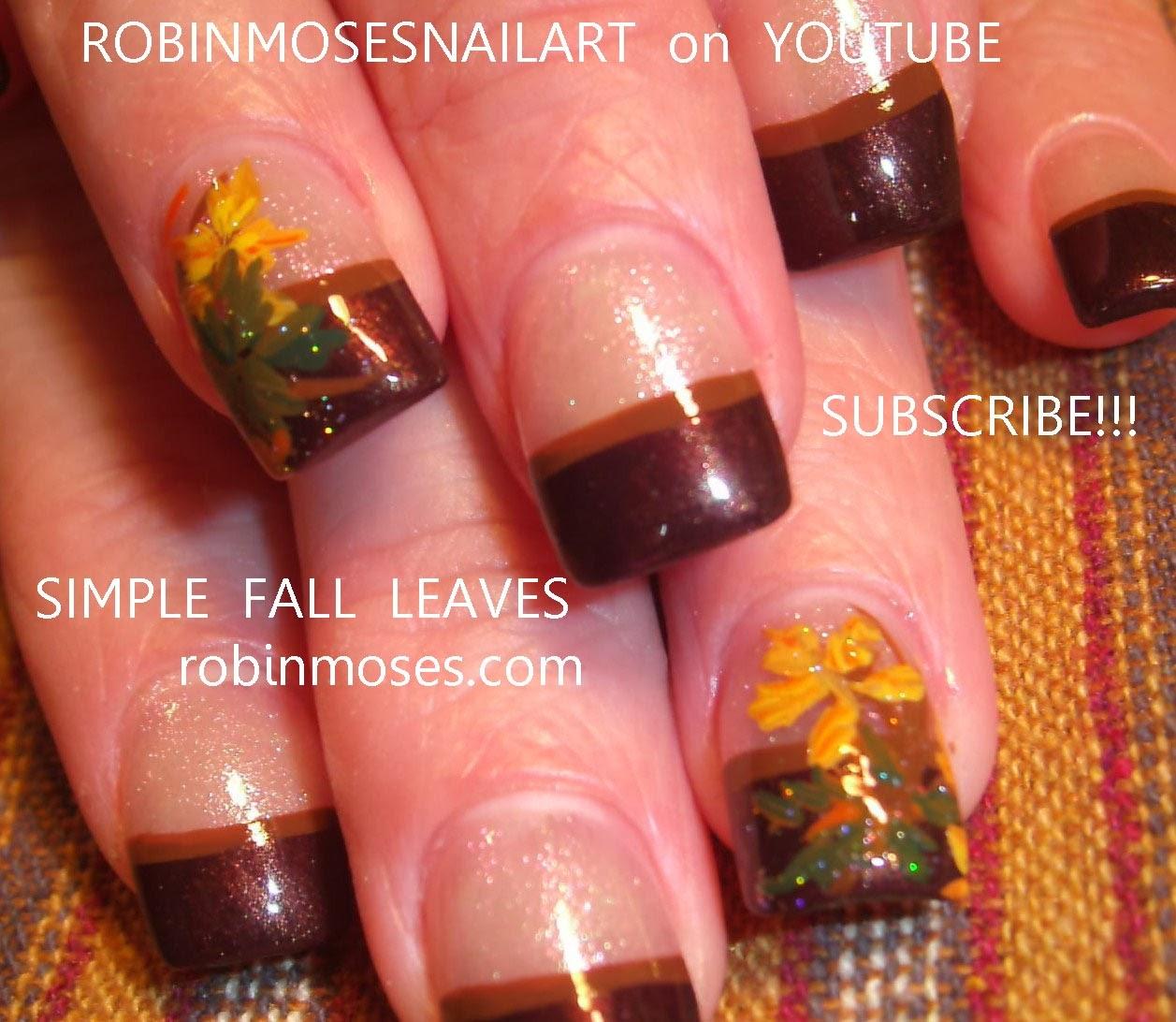 EASY fall nails here. Short nails and cute french mani! - Robin Moses Nail Art: