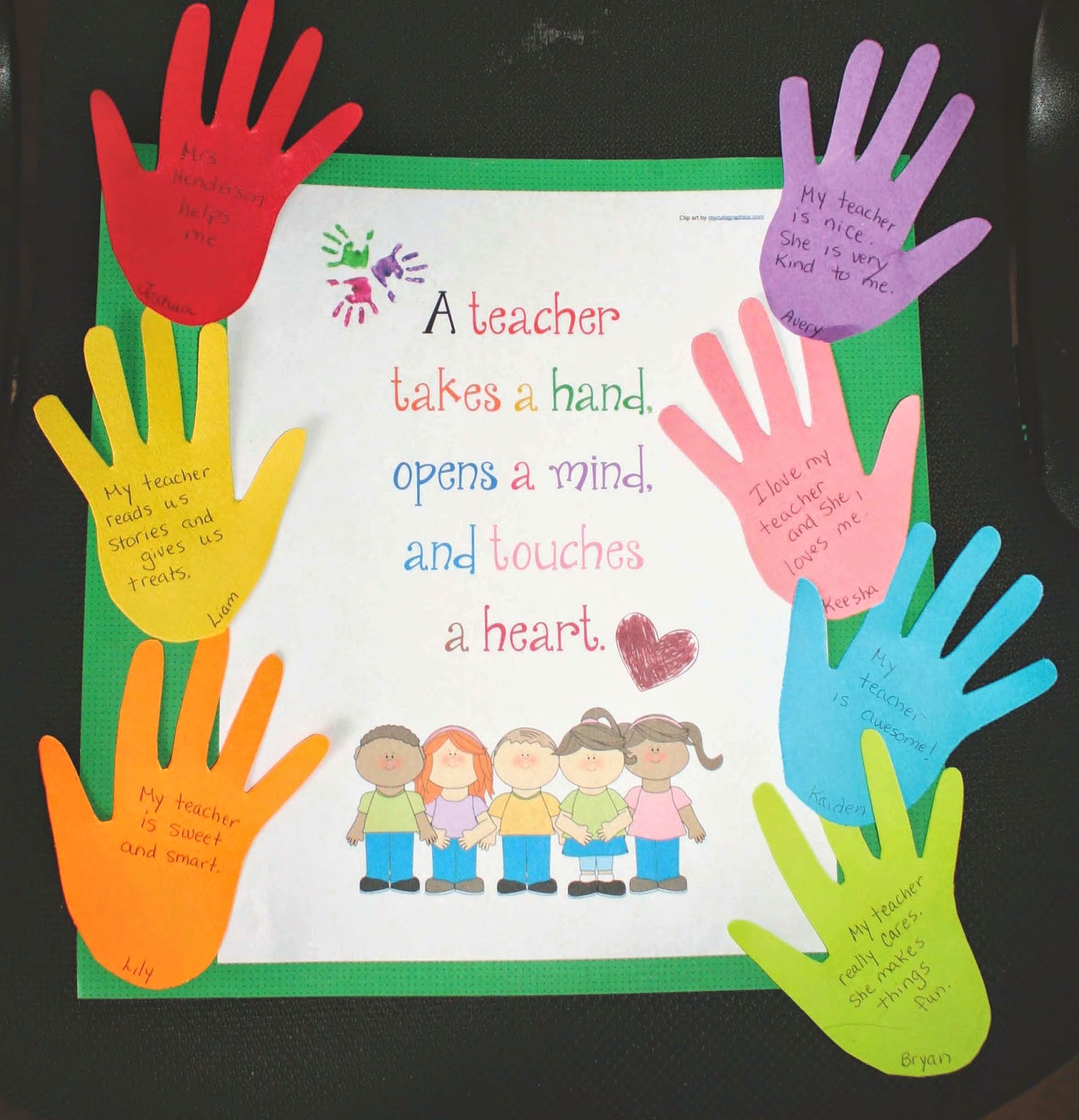Classroom Keepsake Ideas ~ Classroom freebies a keepsake poster card for the teacher