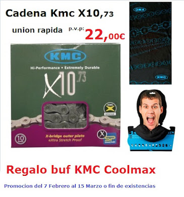 Promocion KMC X10,73