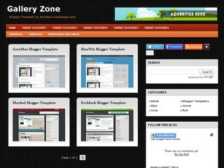 Gallery Zone Blogger Template