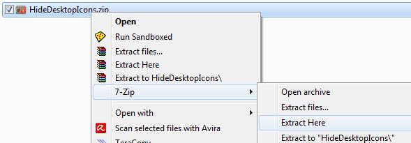 Cara Membuat Shortcut Untuk Menyembunyikan dan Menampilkan Icon Dekstop