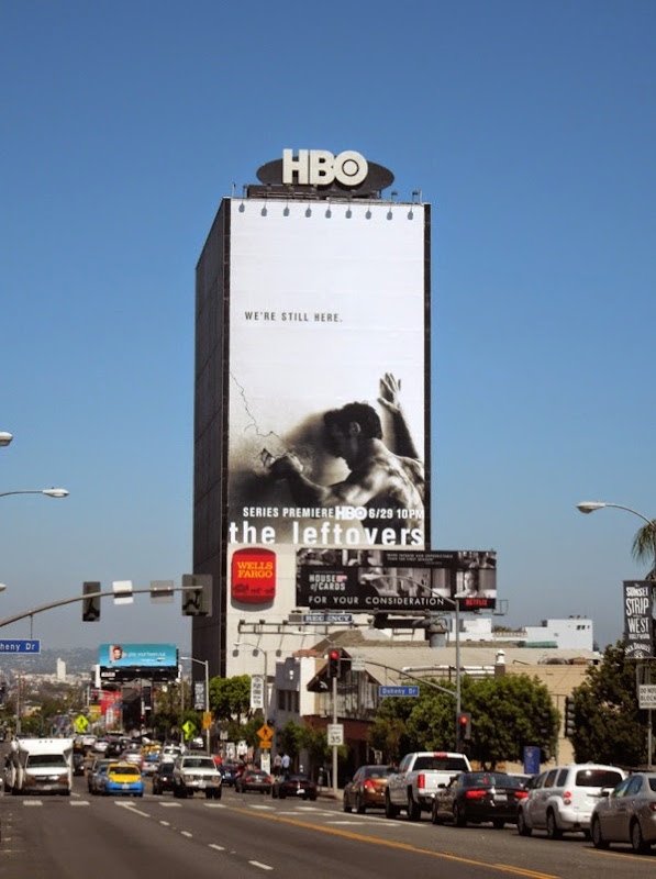 The Leftovers giant series premiere billboard Sunset Strip
