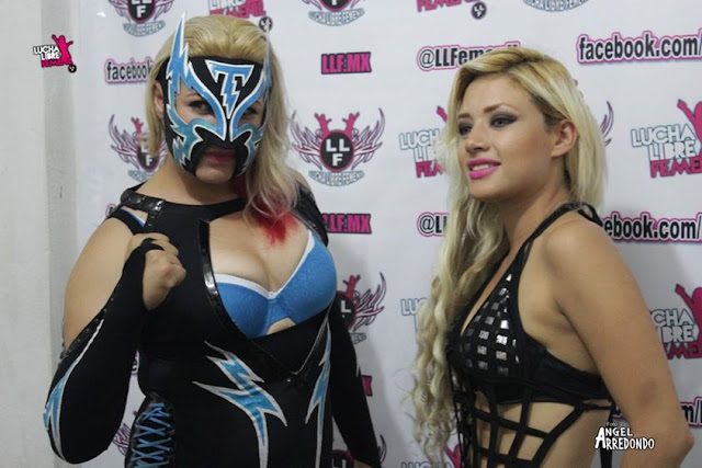 LLF Luchadoras Chika Tormenta and Alicia