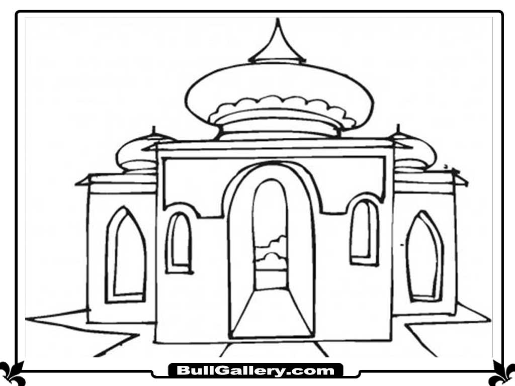 printable mosque coloring pages