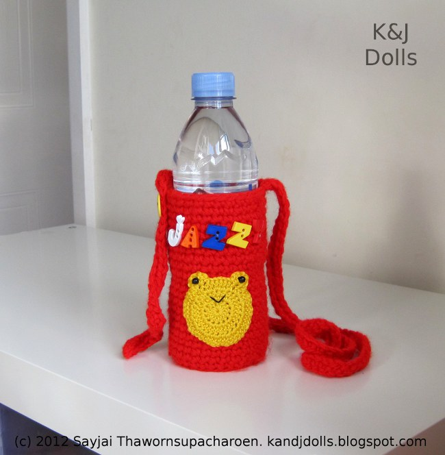Water Bottle Holder Crochet Pattern Sayjai Amigurumi Crochet