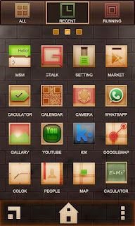 Screenshots of the Window Go Launcher EX for Android mobile, tablet, and Smartphone.