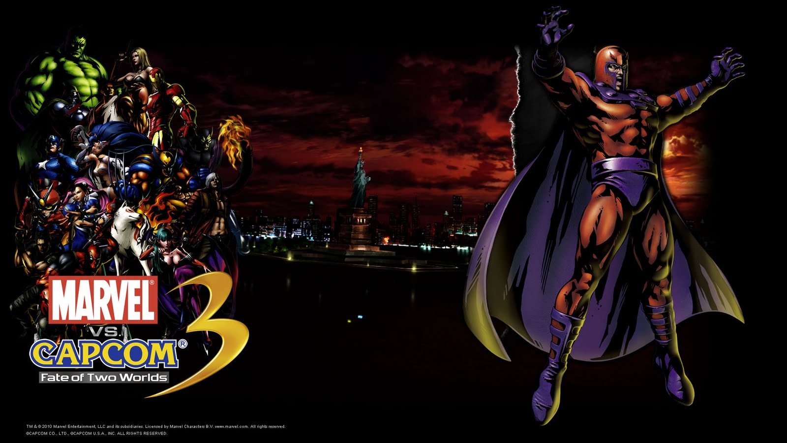 Mvc 5 background image - Magneto Mvc 3 Marvel Vs Capcom 3 Wallpaper Background