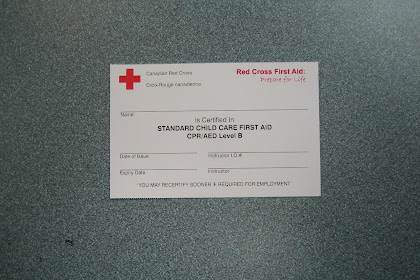 Canadian Red Cross First Aid Certificate