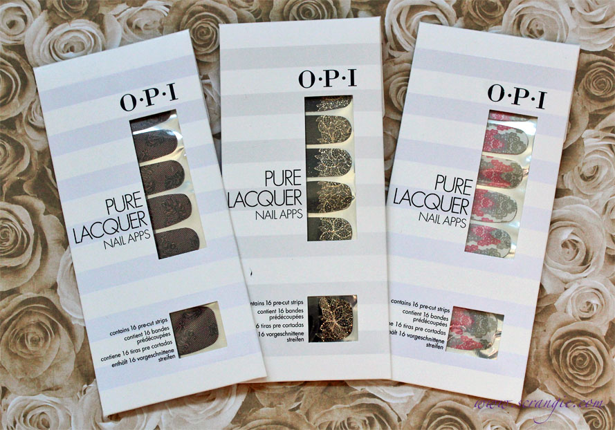 Scrangie: New OPI Pure Lacquer Nail Apps Pictures and Gold Lace Review