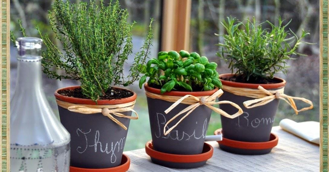 La boutique deco de cridescrap co cache pot en terre - Herbes aromatiques en pot ...