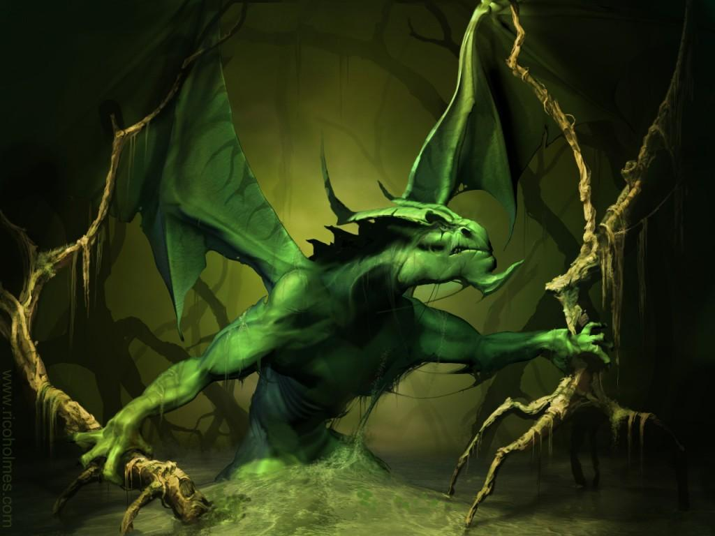 Angry Green Dragon || Top Wallpapers Download .blogspot.com