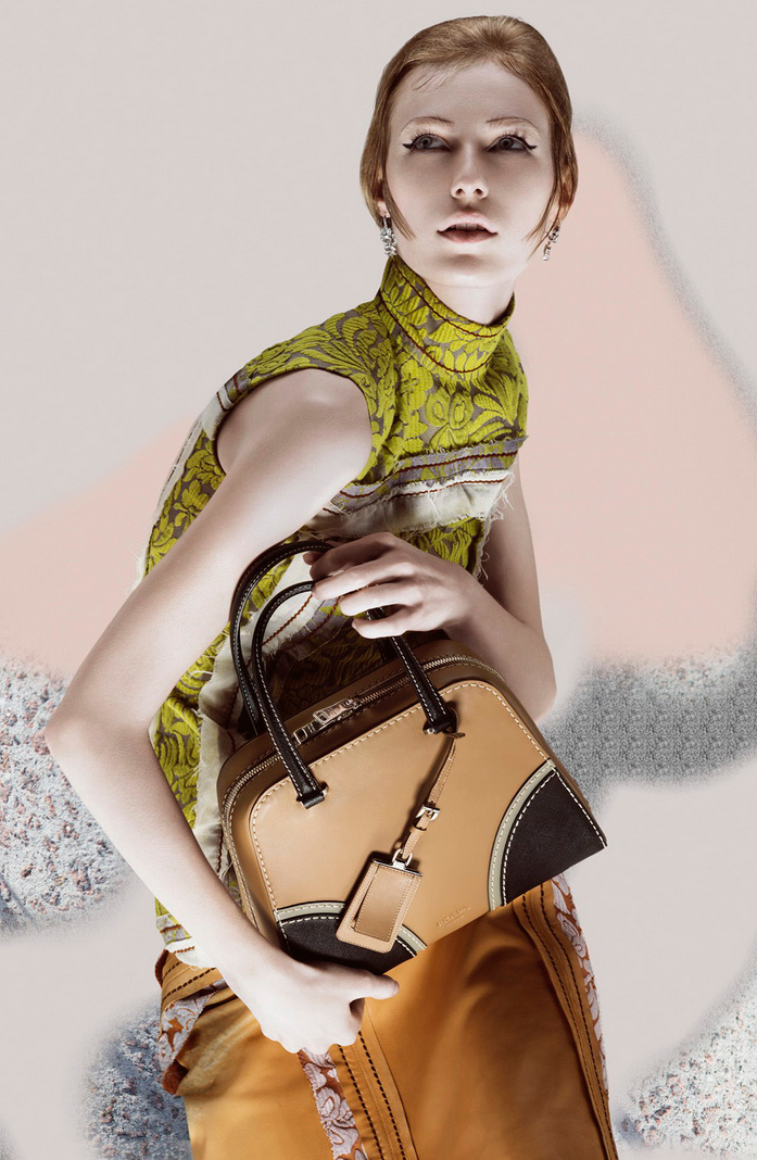 Julia Nobis photographed by Steven Meisel for Prada Spring/Summer 2015 campaign via www.fashionedbylove.co.uk