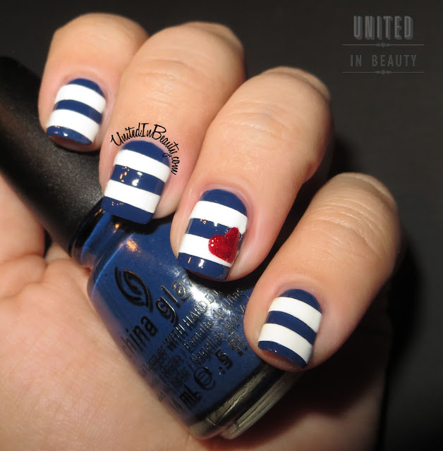 Striped Nautical Nails
