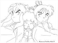 Gambar Untuk Diwarnai Inuyasha
