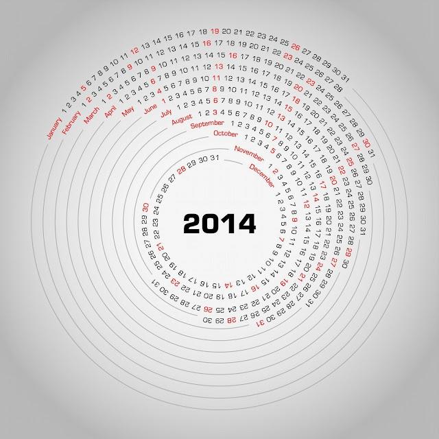 Calendario espiral 2014