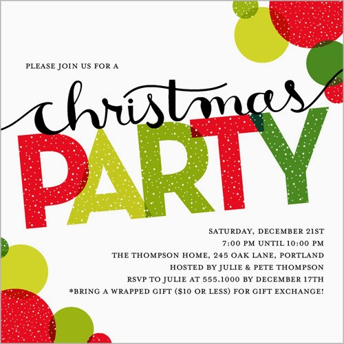 How To Make A Christmas Party Fun: Acting Balanced: Guest Post: Your Holiday Party Invitation
