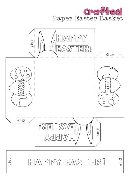 Easter craft printable easter basket crafted one blank for your kids to do their own design pronofoot35fo Image collections
