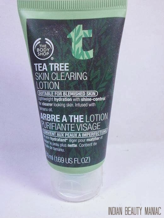 The Body Shop Tea Tree Skin Clearing Lotion for Blemished Skin review and swatch
