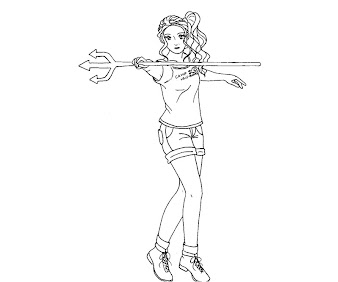 #5 Percy Jackson Coloring Page