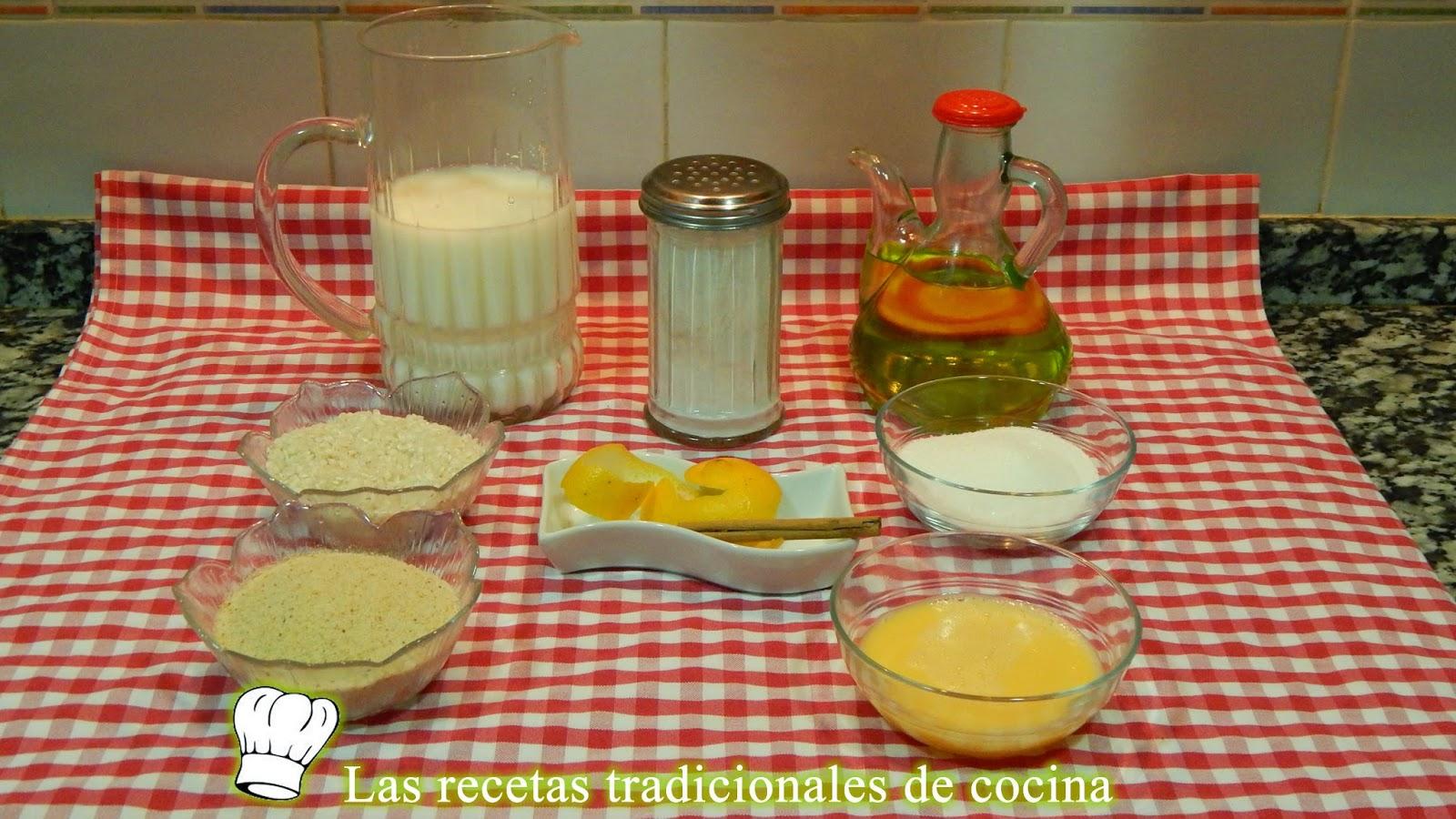 receta fácil de buñuelos de arroz con leche