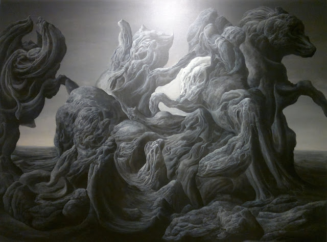 "The Mount of Lions, Wang Tianxuan, ""Mountain Lore"", Art Seasons Gallery  #02-21/24, 1 Selegie Road, Singapore"
