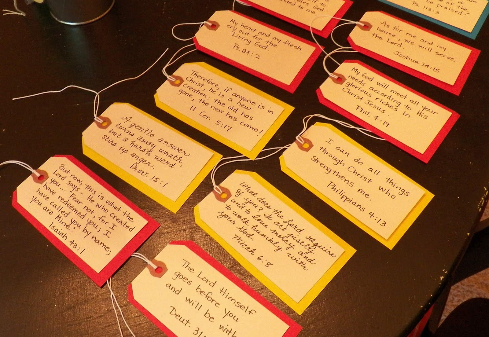 Everyday blessings graduation idea scripture tags i thought about printing the scriptures out but i think some of the sweetness about it is that they are handwritten plus i enjoyed writing the scriptures solutioingenieria Images
