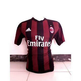 gambar enkosa sport toko online baju bola terpercaya terlengkap Jersey Ac Milan home Official terbaru musim 2015/2016