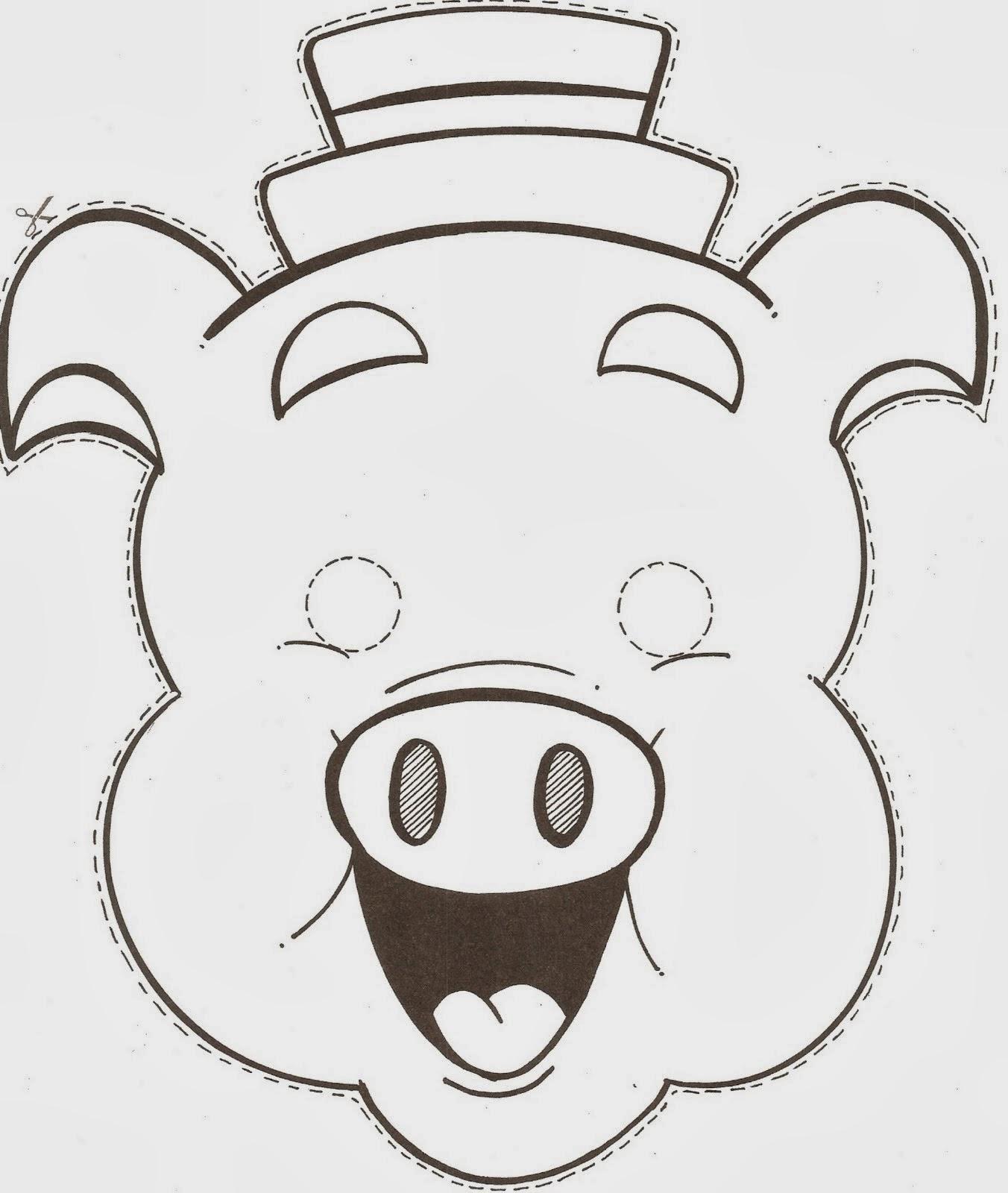 máscara cerdito porquinho
