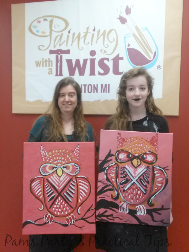 Painting with a twist fenton review by pamela maxwell for Painting with a twist fenton mi