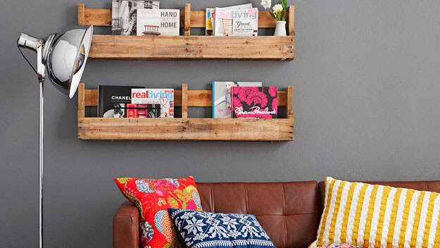 Pallet Shelves from REAL LIVING MAGAZINE