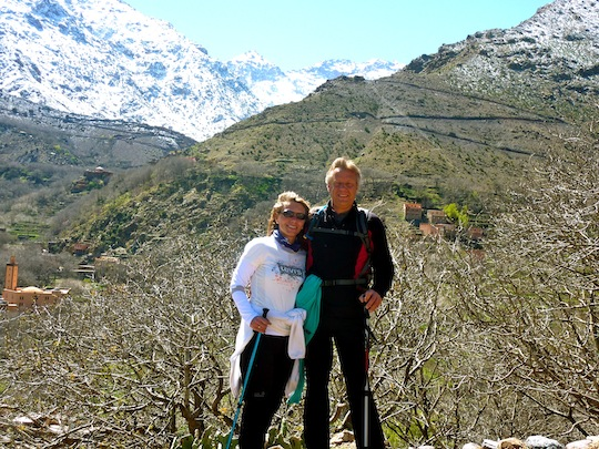 Snow-capped Atlas Mountains Morocco