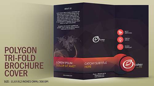 Design A Polygon Tri Fold Brochure Cover Photoshop Tutorial