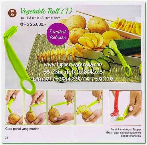 Promo Tupperware April Vegetable Roll