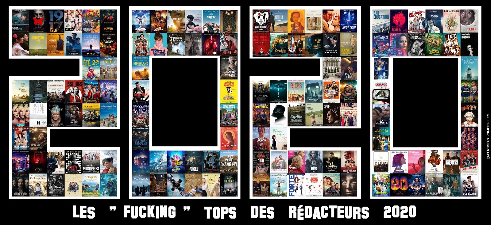 Bilan Ciné 2020 (Tops + avis commentés)
