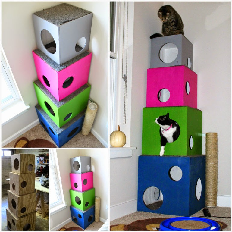 Ideas products diy cat tree for Do it yourself cat condo