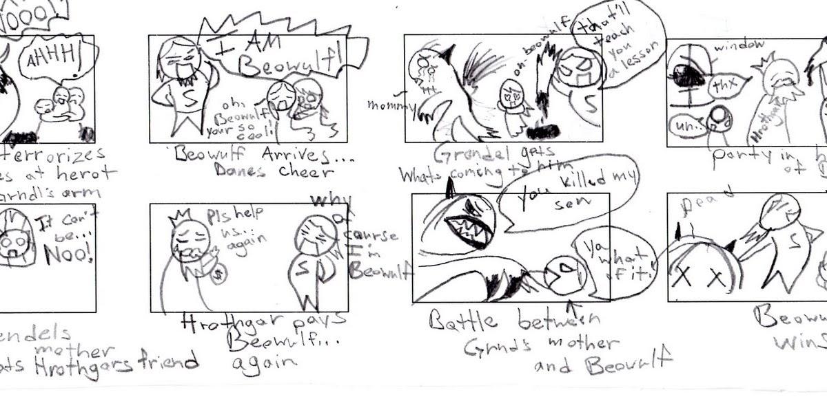 beowulf comic strip assignment