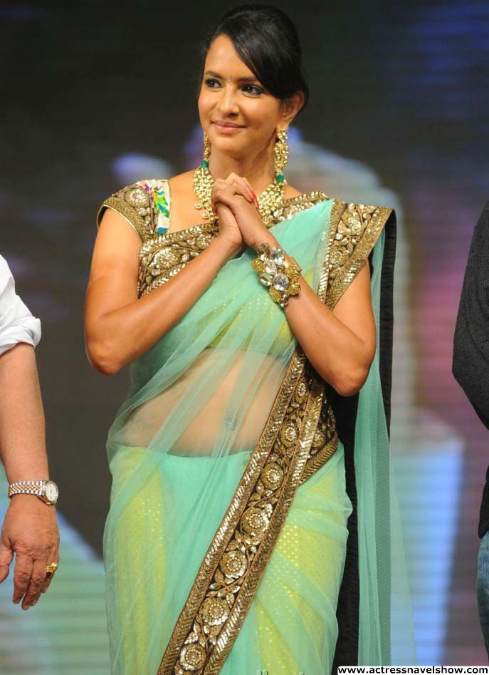Lakshmi Prasanna Hot Navel Show in transparent green saree | TalexXx ...