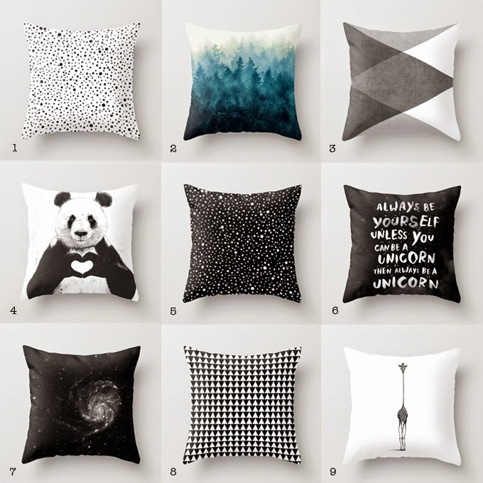 Cool throw pillows to mix up | Rue du chat qui peche for Society6