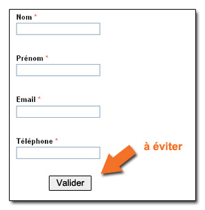 L'importance du bouton du formulaire