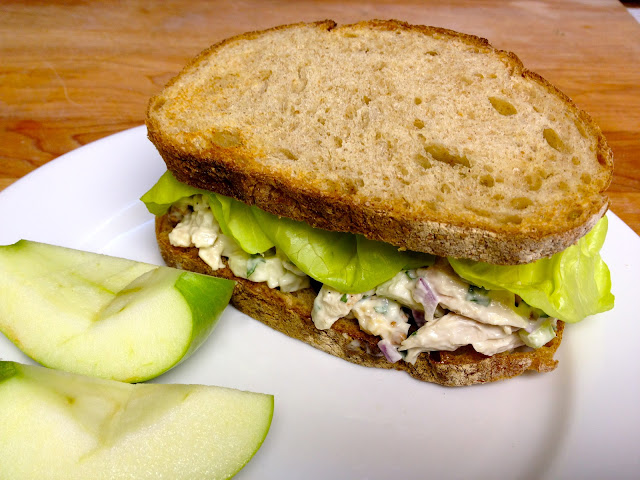 Gourmet Turkey Salad Sandwich with Apple, Walnut and Ginger