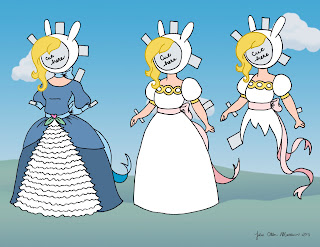 Adventure Time Fionna Paper Doll page two